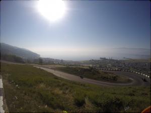Première vue du Baïkal !
