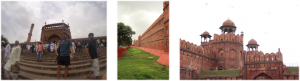 La Mosquée d'Old Delhi et le Fort Rouge